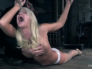 Blonde MILF London River enjoys getting tied not far from and abused
