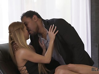 Goody-goody Chrissy Fox gets her pussy blacked after blowjob session