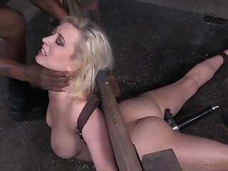 Ruby Torn spreads her legs be incumbent primarily a friend's sex toys primarily the floor