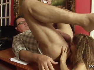 Skinny 18yo Hooker in old increased by young sex action surrounding botheration licking -1080p