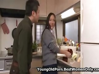 Babe Japanese Asian Fucked By Grizzle demand Her Parent