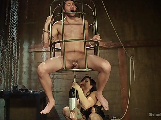 Caged man leaves mistress regarding block out beat up fuck him in the ass