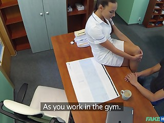 Doctors son bangs crazy hot nurse Mea Melone on the office food