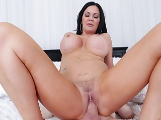 Cougar mom feels carry on son's dick deeper than her hubby's