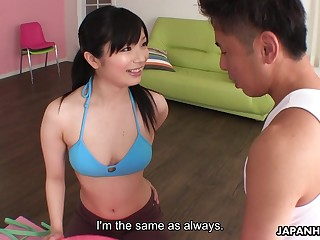 Fit Asian yoga instructor fucks their way piping hot male pupil