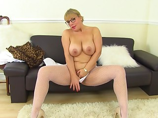 Mature with huge tits, first time slutty on cam