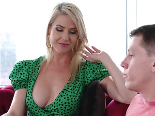 Remarkable busty blonde MILF Kit Mercer just loves some horny doggy be wild about